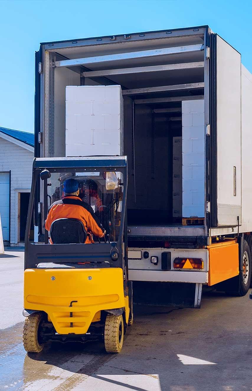 Unloading full truckload